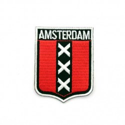 BADGE PATCH AMSTERDAM CROSSES