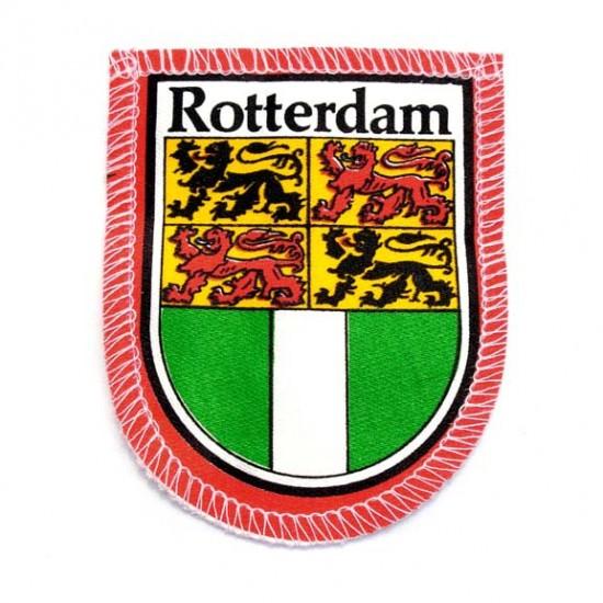 Badge mouw-embleem wapen rotterdam 7.5 x 6 cm