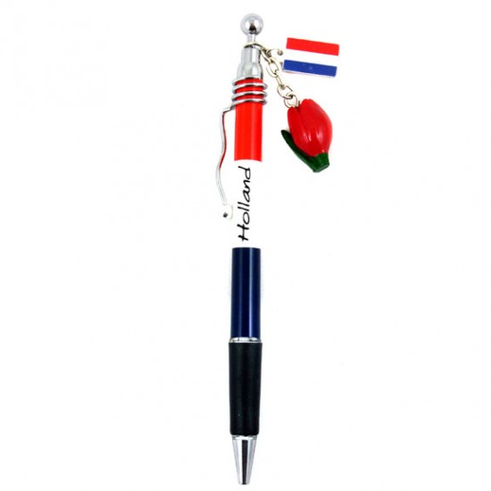 Pen holland with tulip and flag