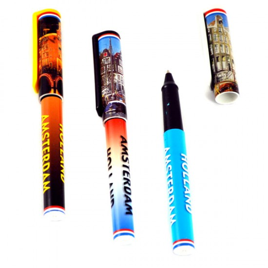 PENS SET HOLLAND AMSTERDAM CANAL HOUSES