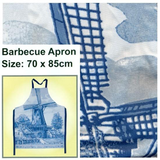 BBQ APRON DELFT BLUE WINDMILL 70 X 85 CM