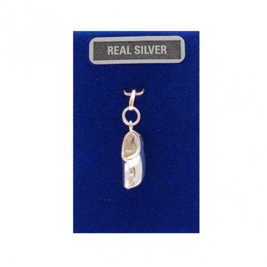 Bedel zilver klompje 15 mm