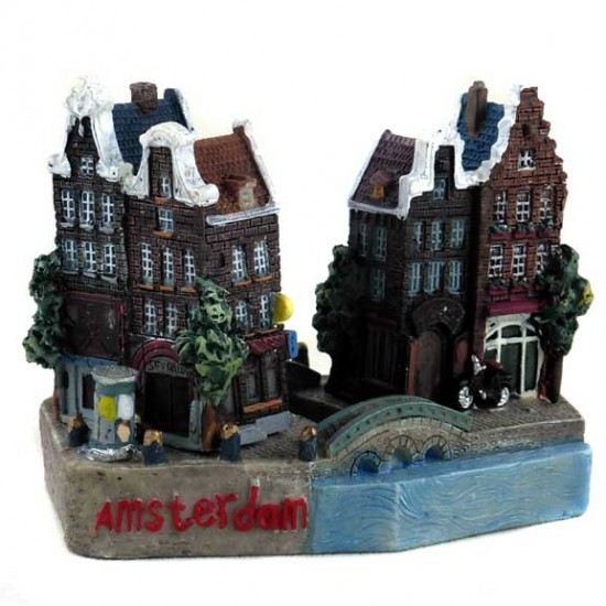 FIGURINE / MAGNET AMSTERDAM CANAL HOUSES 3D
