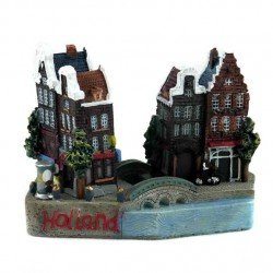 FIGURINE / MAGNET HOLLAND CANAL HOUSES 3D