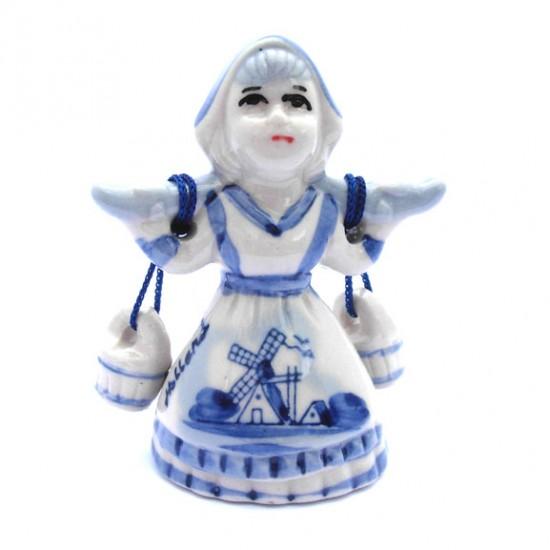 FIGURINE MILK MAIDEN DELFT BLUE 7 CM