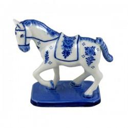 STATUETTE PORCELAIN DELFT BLUE HORSE