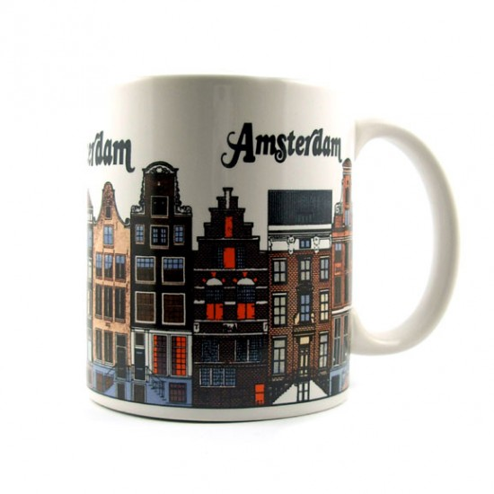 Mug amsterdam canal houses 9 cm