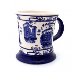 CUP / MUG DELFT BLUE AMSTERDAM RELIEF