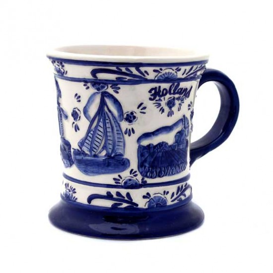 Cup / mug delft blue holland relief
