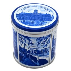 STORAGE TIN DELFT BLUE AMSTERDAM