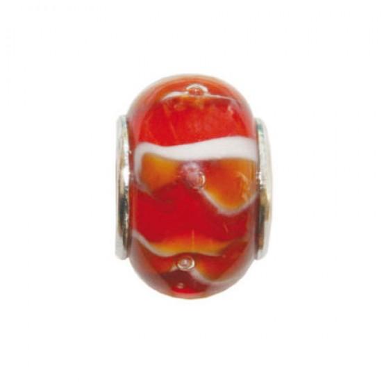 BIBA BEAD GLASS RED GB-4206