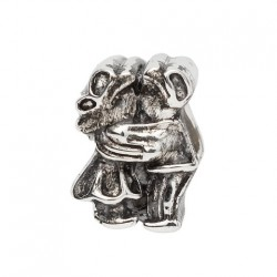 BIBA BEAD KISSING COUPLE SILVER
