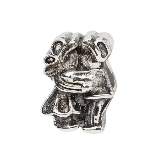 Biba bead kissing couple silver
