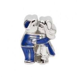 BIBA BEAD KISSING COUPLE BLUE WHITE