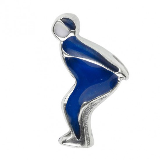 Biba bead ice skater blue jh-103