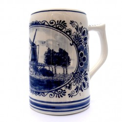 BEER MUG DELFT BLUE 0.5 L. AMSTEL CUP