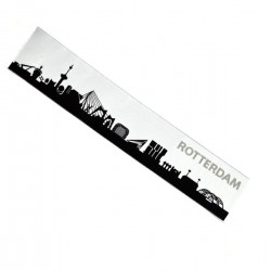 BOOKMARK ROTTERDAM SKYLINE BLACK COTTON