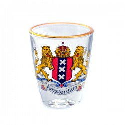 SHOT GLASS AMSTERDAM CITY LOGO