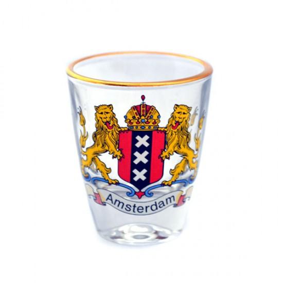 Shot glass amsterdam city logo
