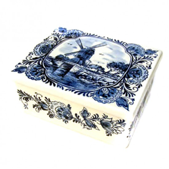 BUTTER SPOON BOX DELFT BLUE