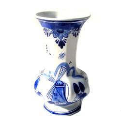 BULB VASE DELFT BLUE OCTAGON 15 CM