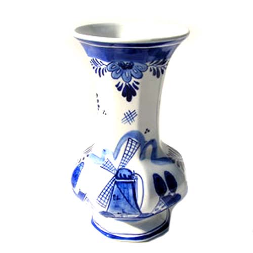 Bulb Vase Delft Blue Octagon 15 Cm Vases And Pottery Holland