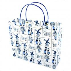 GIFT BAG / MINI SHOPPER BLUE DELFT TILES