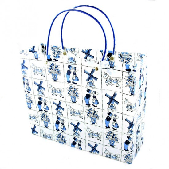 GIFT BAG / MINI SHOPPER BLUE DELFT TILES
