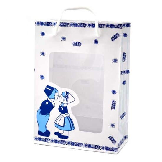GIFT BAG SWEETS KISSING COUPLE DELFT BLUE