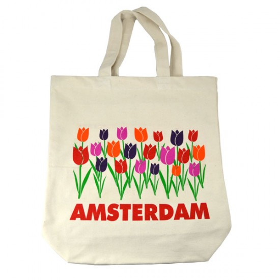 CANVAS TOTE BAG TULIPS AMSTERDAM COLOR