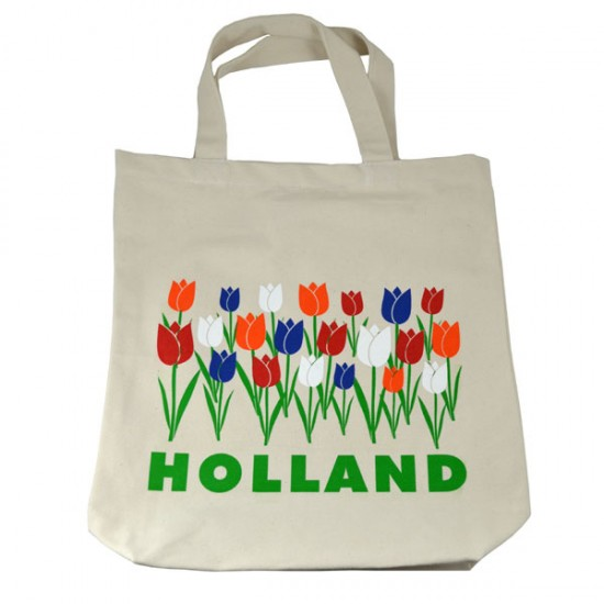CANVAS BAG TULIPS HOLLAND COLOR