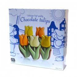 CHOCOLATE TULIPS IN DUTCH GIFT BOX