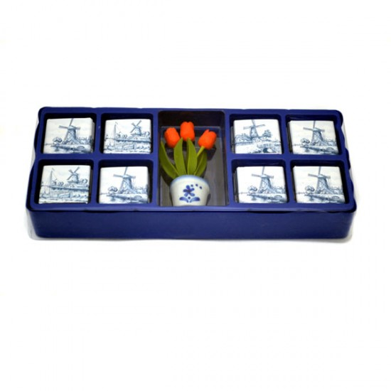 Chocolate box travel tulpen