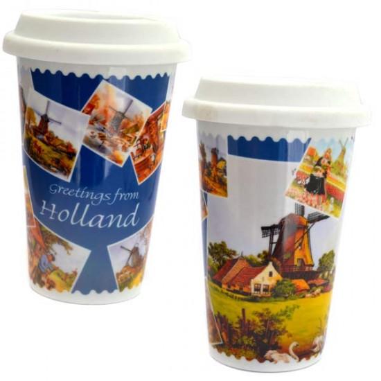Coffee2go thermo mug greetings holland windmills