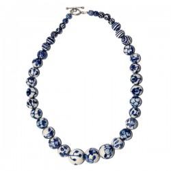 NECKLACE DELFT BLUE BEADS 50 CM