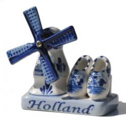 COMBI HOLLAND DELFT BLUE MILL CLOGS
