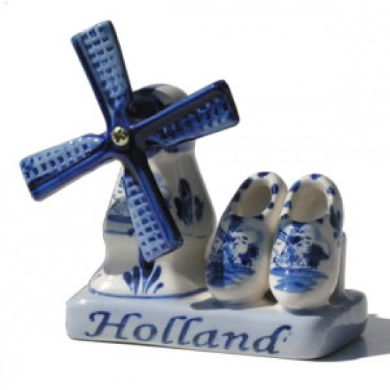 COMBI HOLLAND DELFT BLUE MILL CLOGS
