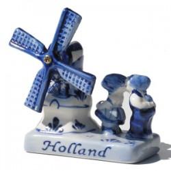 COMBI HOLLAND DELFT BLUE WINDMILL KISSING COUPLE