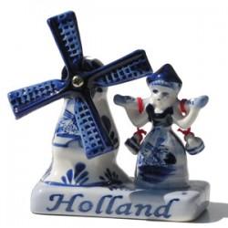 COMBI HOLLAND DELFT BLUE MILL MILKMAID 9 x 7.5 x 4 CM