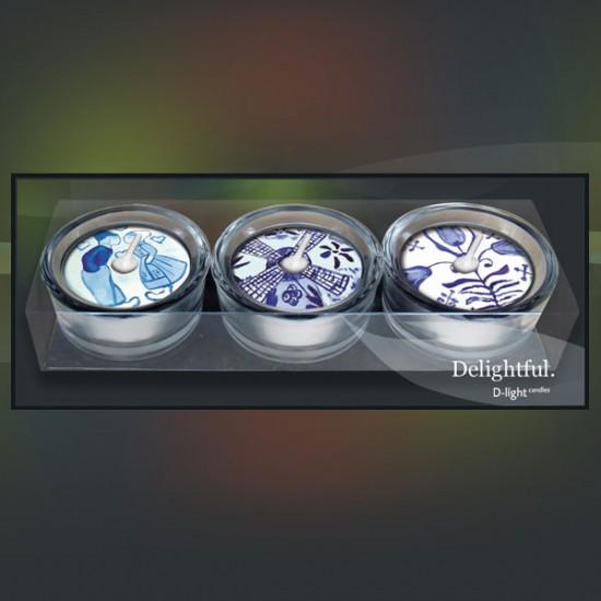 D-light teelichte giftset delfter blau