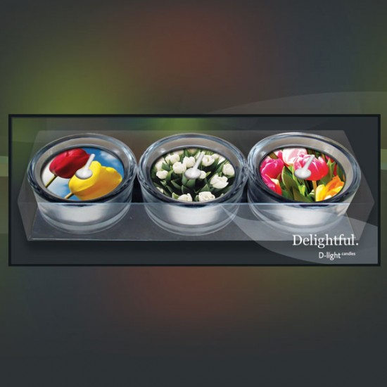 D-light waxinelichtjes giftset tulpen