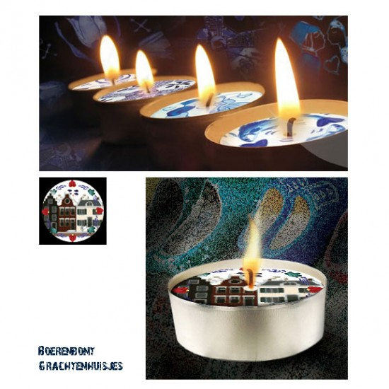 D-light tea lights with canalhouses