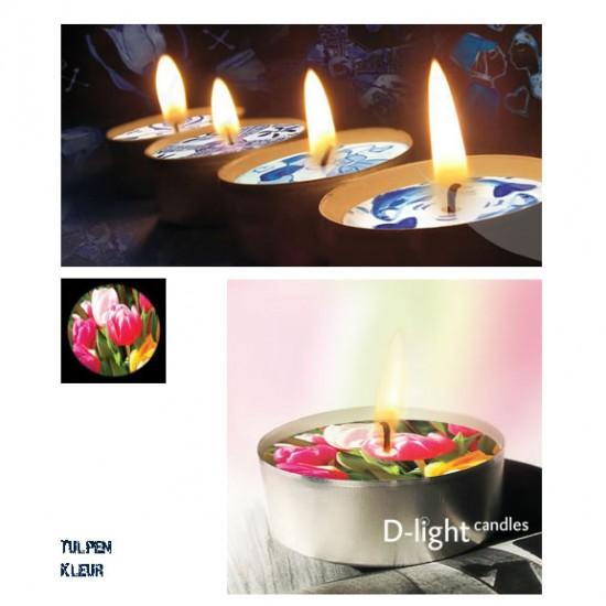 D-light tea lights tulips color