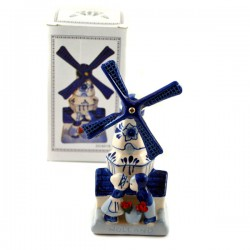DELFT BLUE COMBI WINDMILL HOUSE TULIP KISSING COUPLE