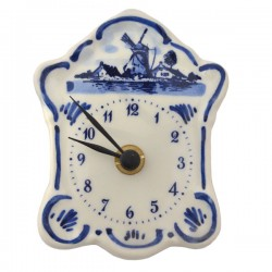 DELFT BLUE WALL CLOCK WINDMILL NUMERALS