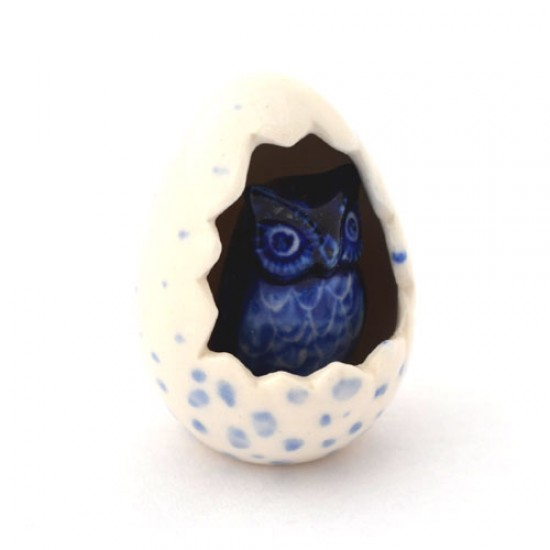 DELFT BLUE MINIATURE OWL IN EGG