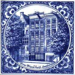 DELFT BLUE TILE ANNE FRANK HOUSE AMSTERDAM