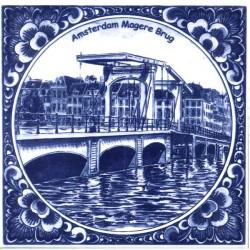 DELFT BLUE TILE MAGERE BRUG AMSTERDAM