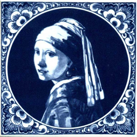 DELFT BLUE TILE THE GIRL WITH THE PEARL EARRING VERMEER