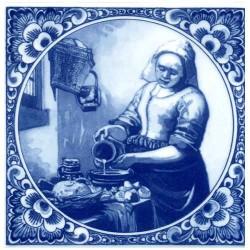 DELFT BLUE TILE VERMEER MILKMAID